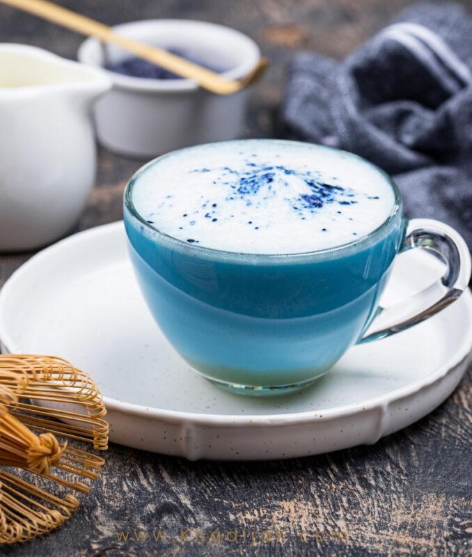 blue matcha powder, butterfly pea flower powder